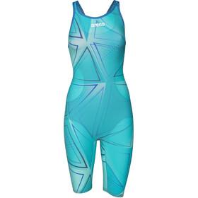 arena R-EVO ONE Traje Pierna Corta Espalda Abierta LTD Edition 2019 Mujer, blue glass